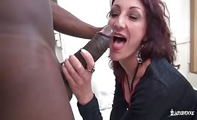 Mature French WIfe Anally Fucking and Squirting Pussy