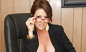 MILF Boss Requires Special Conditions of the Employee - Hard Cock Between her Big Tits and Massive Load of Cum on her Face