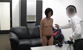 Her First Debut in Front of the Camera Ended with Creampie in her Pussy