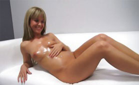 Oiled Amateur Young Babe is Ready to Take the Road of Porn Star