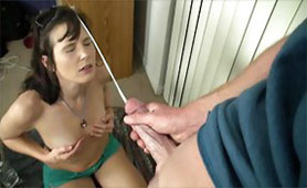 She was Not Prepared for the Long Cumshot